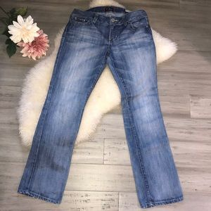 Guess low rise straight leg jeans